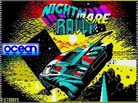 Pantalla de carga de Nightmare Rally para Spectrum