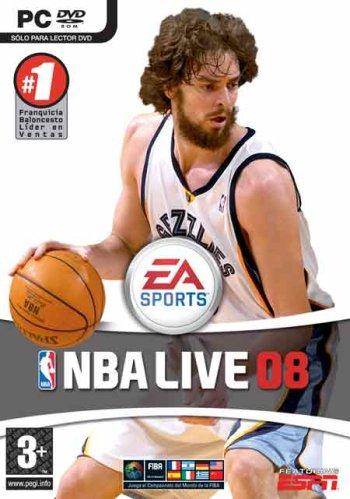 Portada de la edición española de NBA Live 08 para PC