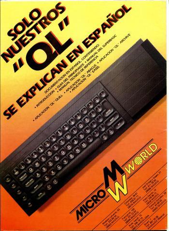 Publicidad del QL español en el número 36 de Microhobby